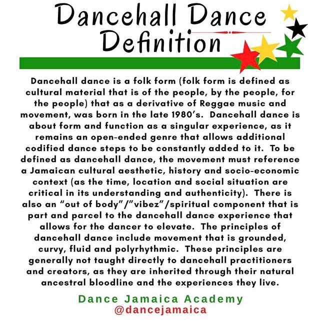 Dancehall Dance Definition by Dance Jamaica Academy